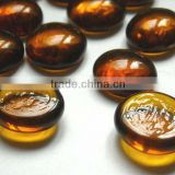 amber flat glass marble with low price