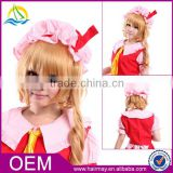 New product high quality wig in stock touhouproject Flandre Scarlet wholesale wig anime