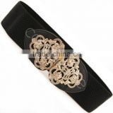 version of the new bohemian hollow metal elastic belt,stretch Ms. wide girdle belt,woman belt