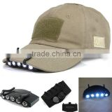 Sales 5 LED Clip Hat Cap Lamp Light Headlamp Fishing Camping Hiking Walking Lamp