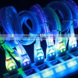 Smile face led light retractable usb data line , led light usb charging data line, usb data charger cable
