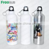 Wholesale sublimation 750ml blank sport aluminum printed water bottles