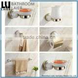 No.11700 Daily Home Use Product Modern Kitchen ZInc Alloy And Ceramic Gold Finishing Wall-Mounted Bathroom Accessories Set