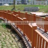 Weather resistant wood plastic composite wpc railing, WPC handrail, decorative wood handrails