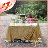 High quality wedding embroidery shining gold sequin tablecloth from China supplier