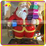 KANO5114 Christmas Decoration Fiberglass Real Life Size Santa Claus