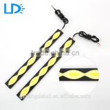 Factory price 12v IP65 white and yellow with turn signal Cob led drl Daytime Running Lights