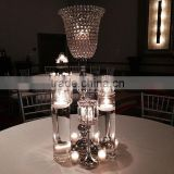 Wedding Centerpiece/ Tabletop/ Crystal Candle Holder