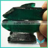 Wholesale blue emerald stone bulk gemstone /rough cut synthetic russian emerald price per carat