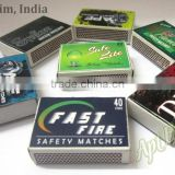 Nigeria Household Safety Wooden Match Boxes supply from India