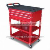 Compact Mobile Tool Chest, Compact Mobile Tool Cabinet with Red Powder Coating Finishing and Ideal for Workshop/Garage
