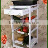 ECO friendly FSC and SEDEX audited solid wood vegetable storage rack for kitchen,wooden kitchen rack with drawers