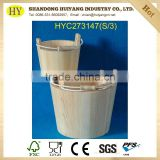 FSC factory small wooden garden barrel bucket sets for plant