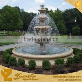 Natural garden home large 4 tier yellow stone marble water fountains