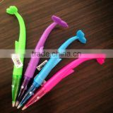 Wholesale custom octopus light up plastic ballpoint pen