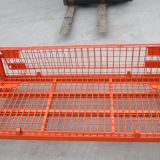 Rolling Metal Storage Wire Mesh Container For Supermarket