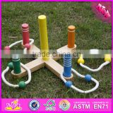 2016 hot sale baby wooden ring toss,top fashion kids wooden ring toss,high quality children wooden ring toss W01A162