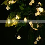 LED Crystal Ball Solar Power Outdoor String Light for Outside Patio Party
