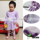 infant baby girls lilac long sleeve cotton t shirts+Legging skirts 2pcs outfits baby suits kids clothes
