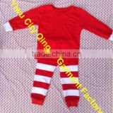 Persnickety Baby Girls Christmas Holiday Pajamas Sets Cute Kids Red Top with Red Stripe Pants Outfit for Christmas