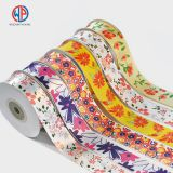 Custom 100% polyester decorative wholesale printed satin ribbon