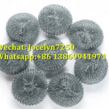 Kitchen cleaning ball mesh scourer/galvanize mesh scrubber/mesh