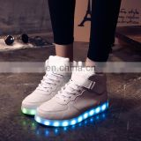 Factory Wholesale Hot Fashion Cool light up shoes street dance luminous high top LED sneakers casual shoes for men women