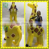 New products yellow inflatable giraffe costume Polyester costume animal costume for kids and adult