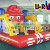 Inflatable bouncer with basketball hoop for children