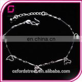 korean summer fashion cute heart-shaped star silver ladies and girls anklets