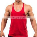 Stringer / gym Singlet - 100% cotton Plain Muscle stringer gym tank to...