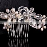 Sweet design handmade pearl headdress flower bridal hair accessories for wedding ceremony