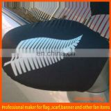 New zealand black white feather printed Custom car mirror flag cover