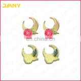 Factory Direct Custom Logo Die Stuck Soft Enamel Earrings