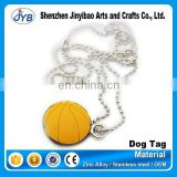 basketball shape metal accessory chain hang dog tag