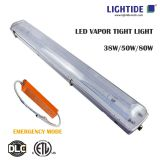 LED Vapor Tight lights Emergency Backup, 38w, 100-240vac, 3 yrs warranty