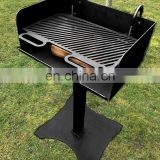Portable Wood Burning Fire Pits Iron BBQ Backyard Patio Garden Round Fire Pit with Cooking Grill