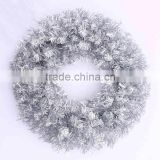 New 30cm 40cm 50cm 60cm silver christmas wreath for party                                                                         Quality Choice