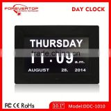 Hot sell High definition digital big screen electronic calendar day date display clock for elder