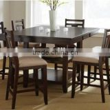 European style high set back dining chairs and table, save space                                                                         Quality Choice