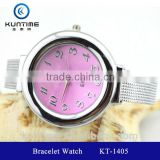 beautiful crystal watch glass face bangle watches bracelet watchstainless steel case back watch