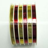 6 Rolls Solid Ribbon Set for Celebration Christmas/Easter/Holiday/Party and decoration gifts