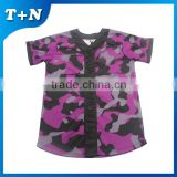 Latest fashion custom sublimation women baseball jerseys