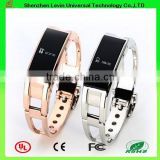 D8 Metal Gold Silver Hot Fitness Tracker Calorie Counter Sleep Monitor Watch Bluetooth Bracelet