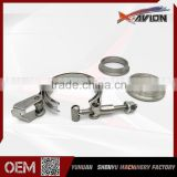 "Professional Manufacture 2"" Stainless Steel Quick Release V band Clamp Flange Kits                                                                         Quality Choice"