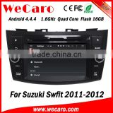 Wecaro WC-SS7669 Android 4.4.4 car multimedia system in dash for suzuki swift android radio gps