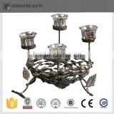 2015 hot sell round shape antique metal candle holder                                                                         Quality Choice