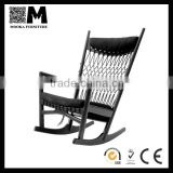 top quality wood furniture soft chair hans J. wegner PP124 chair rocking chair