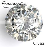 6.5mm Round Esdomera Moissanite Color E-F Lab Grown Diamond Loose Stone Colorless Moissanite Wholesale