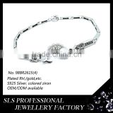 Fantasy jewelry accessories silver bracelets for girls cute fish bracelets with rhodium plated